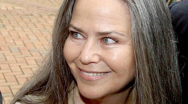 Koo Stark, ex partner of Prince Andrew, appears at West London Magistrates' Court in connection with an alleged theft