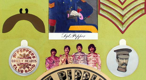 The collage designed for the insert of Sgt Pepper's Lonely Hearts Club Band is being auctioned