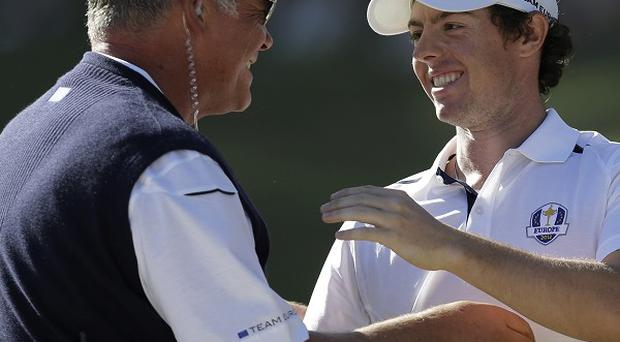 Darren Clarke, left, is seen as one of the leading captaincy candidates for the 2014 Ryder Cup (AP)