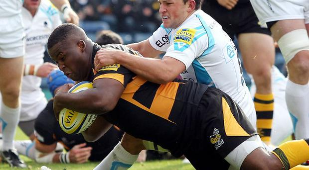 Simon McIntyre crossed over the only try of the game in a dour match between Wasps and Worcester