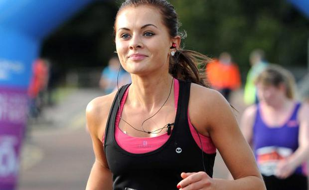 Tiffany Brien takes part in the Runher event at Stormont