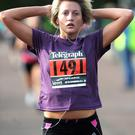 Jennifer Simmons takes part in the Runher event at Stormont