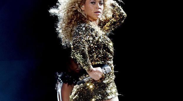 Beyonce joined her husband Jay-Z on stage at his show
