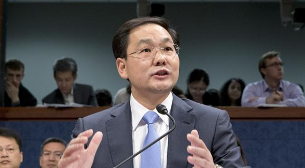 Charles Ding, Huawei Technologies Ltd's senior vice president for the US (AP)