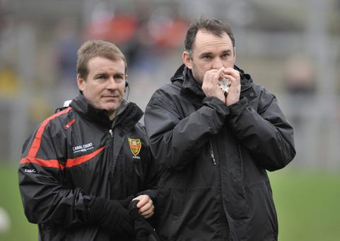 Aidan O'Rourke (right), former All-Ireland winner with Armagh, has been appointed manager of Louth