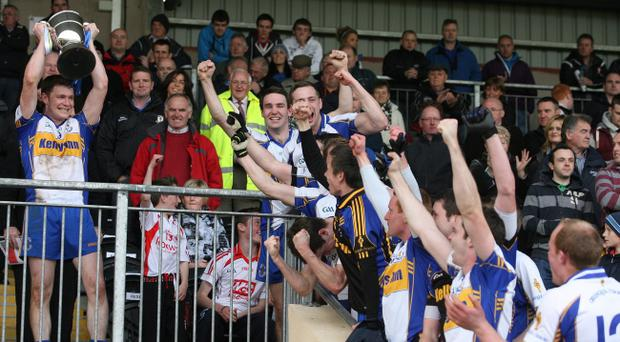 Errigal Ciaran celebrate their Tyrone championship final win over Dromore at the weekend