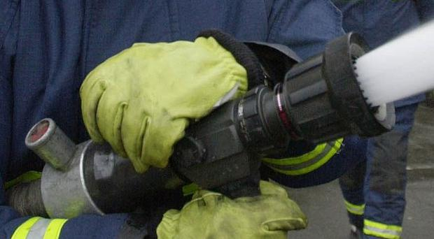 A child and a woman were saved from a blaze in Warrenpoint