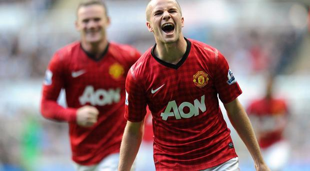 Sir Alex Ferguson doubted Tom Cleverley's intent when he scored Manchester United's third goal on Sunday, but the player insisted he was shooting for goal