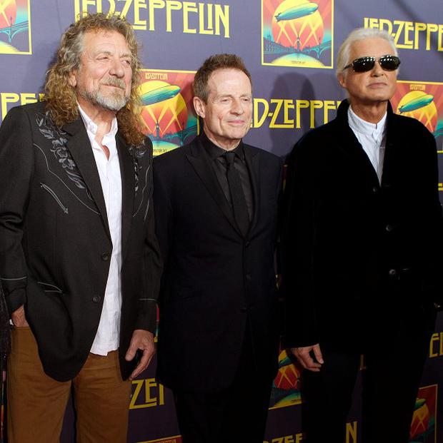 Jason Bonham, Robert Plant, Jimmy Page and John Paul Jones (Dario Cantatore/Invision/AP)