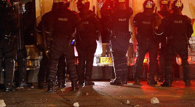 Police come under attack at Carlisle Circus in north Belfast