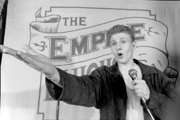 Early days: A young Paddy Kielty cutting his comedy teeth at the Empire