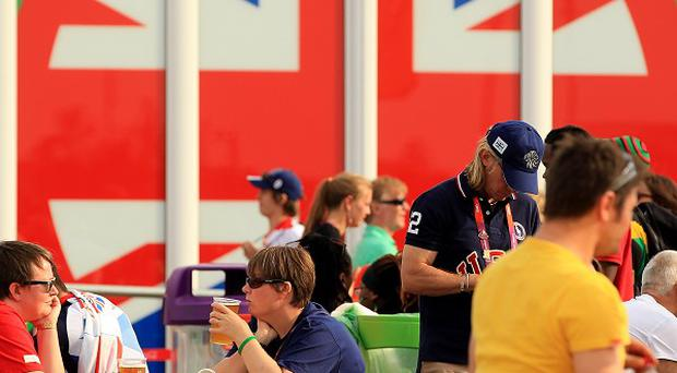 The number of overseas visitors to the UK in August was down compared with a year earlier, despite London staging the Olympics