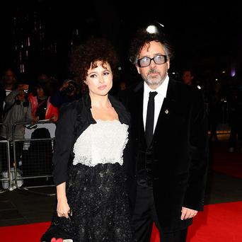 Helena Bonham Carter and Tim Burton arriving the Frankenweenie screening