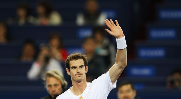 SHANGHAI, CHINA - OCTOBER 11: Andy Murray of Great Britain celebrates winning against Alexandr Dolgopolov of Ukraine during the day five of Shanghai Rolex Masters at the Qi Zhong Tennis Center on October 11, 2012 in Shanghai, China. (Photo by Lintao Zhang/Getty Images)