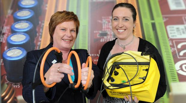 Pictured (L – R) are Dr Vicky Kell, Invest NI, with Charlene Thompson of Acksen.