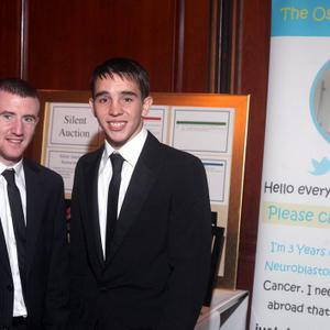 Olympic bronze medalists Paddy Barnes (left) and Michael Conlan at the gala ball in aid of Oscar Knox