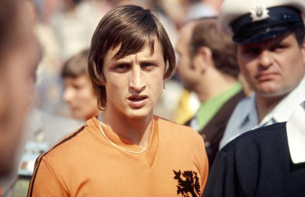 <b>1. Johann Cruyff </b><br /> <b>Country:</b> Holland <br /> George Best may have famously nutmegged Cruyff in an international in Rotterdam in 1976, but it was the Dutchman who spent most of his career making others look silly. What a gifted player. Was at the heart of the 'Total Football' played by Holland in the 70s and invented the 'Cruyff turn'. Pure genius.