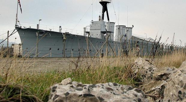 HMS Caroline will remain docked in Belfast