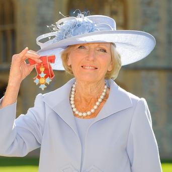 Mary Berry has become a Commander of the British Empire (CBE)
