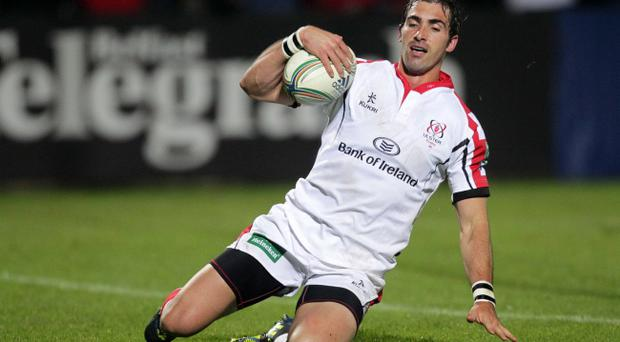 Ruan Pienaar scores his last-gasp try to earn maximum points for Ulster