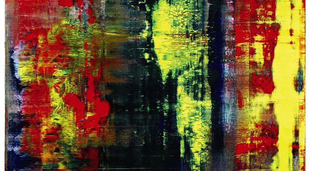 A Gerhard Richter painting, Abstraktes Bild, has sold for more than 21 million pounds at an auction in central London (Sotheby's/PA)