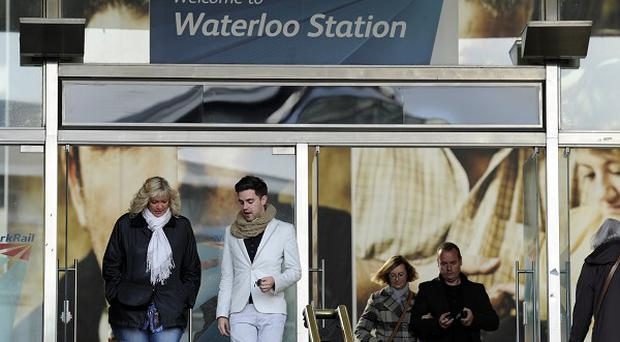 Waterloo station in London as some South West Trains were cancelled or diverted because of an electrical supply problem