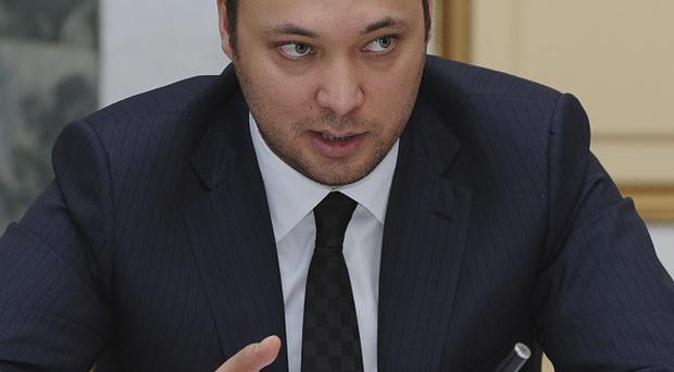 Maksim Bakiyev, son of deposed Kyrgyz president Kurmanbek Bakiyev, has been arrested by police in London (AP)