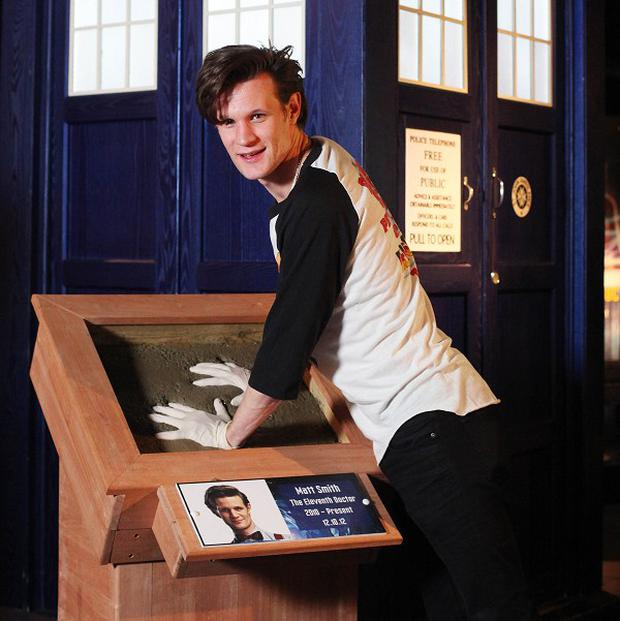 Matt Smith visited The Doctor Who Experience in Cardiff Bay