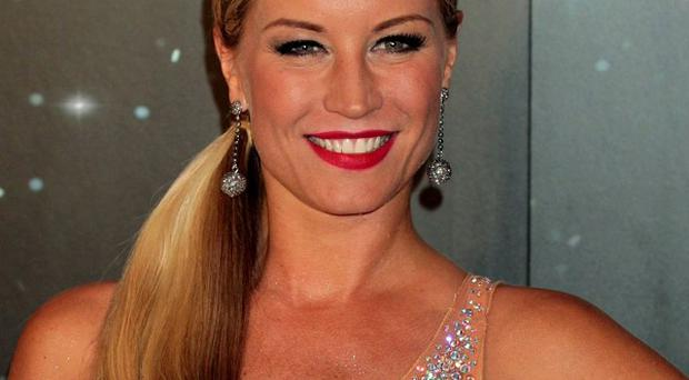 Denise Van Outen suffered whiplash while training for the jive
