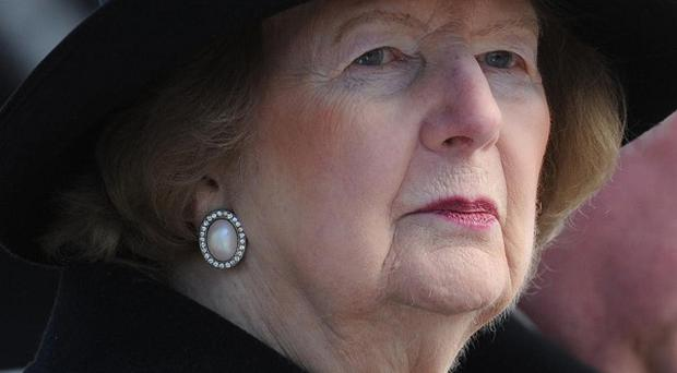 Mitt Romney has described Margaret Thatcher as a 'tower of strength in the cause of liberty'