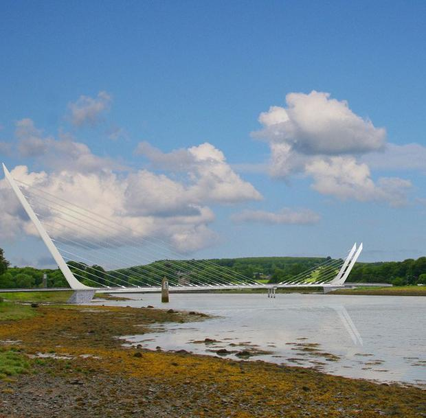 An artist's impression of a new cross-border bridge, which has been given the go-ahead in Northern Ireland