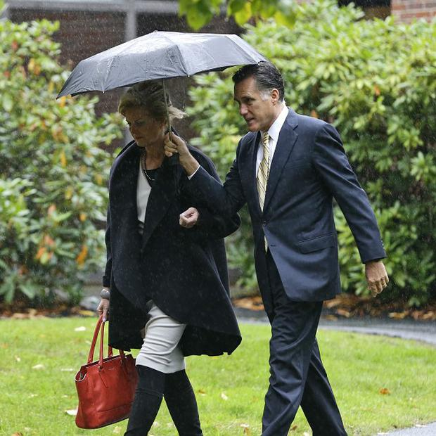 Republican presidential candidate Mitt Romney, pictured with wife Ann, is preparing for his second debate against Barack Obama (AP)