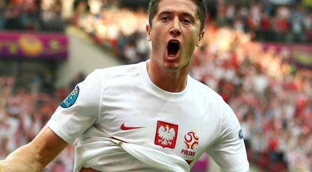 Robert Lewandowski is big in Warsaw, the city where he was born and raised