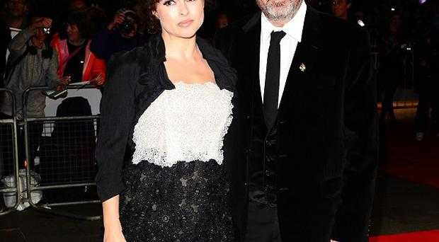 Helena Bonham Carter and Tim Burton at the premiere of Frankenweenie at the London Film Festival