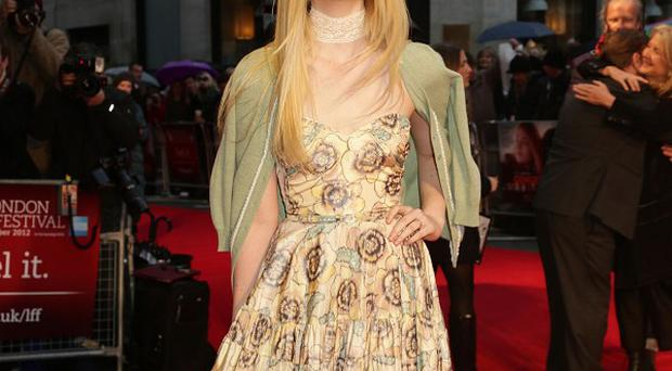 Elle Fanning at the premiere of Ginger And Rosa at the Odeon West End, in Leicester Square