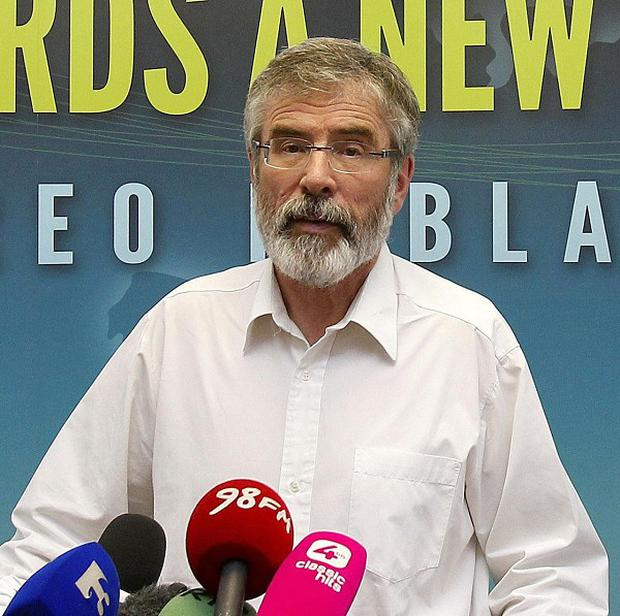 Sinn Fein president Gerry Adams said the North-South Inter-Parliamentary Association would improve cross-border relations