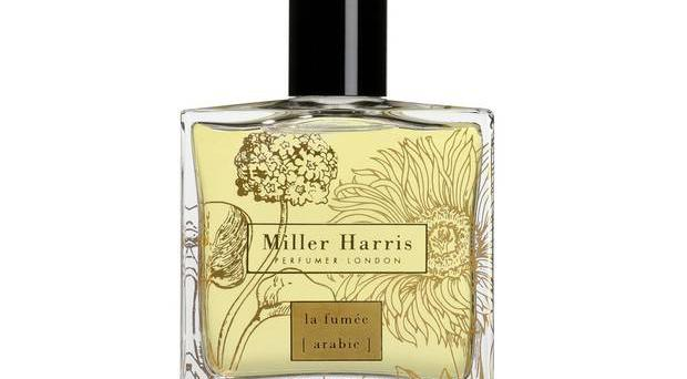 Miller Harris La Fumée Arabie £110 for 50ml, millerharris.com Lyn Harris created this new limited-edition fragrance after the runaway success of its smokey predecessor, La Fumée. It contains new notes of cardamom, coriander seed and cumin, which give it a spicy Moroccan flavour. Presented in a bottle printed with 23-carat liquid gold.