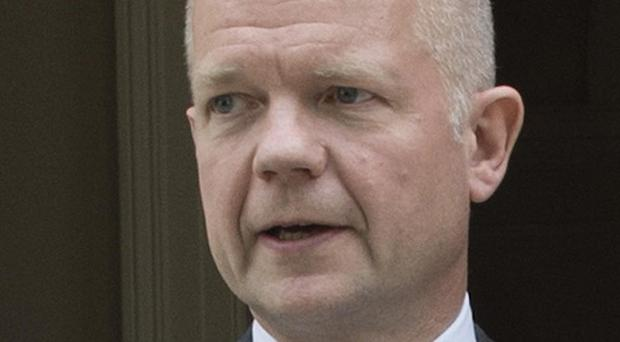 William Hague voiced his support for fresh EU sanctions against Syrian President Bashar Assad's regime