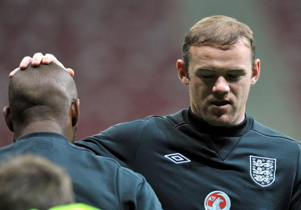 England's Wayne Rooney during a training session at the National Stadium, Warsaw