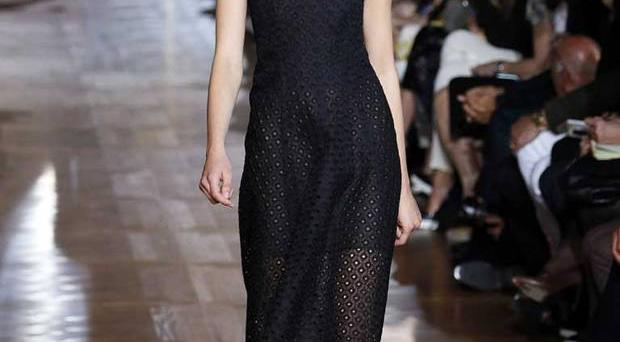 Back to black: Stella McCartney's spring/summer 2013 collection shares Jane Eyre's obsession with minimalist chic