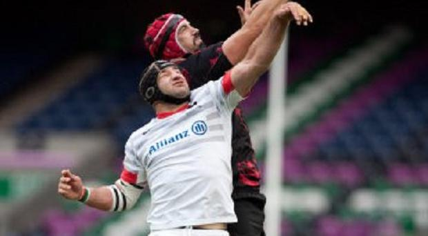 Steve Borthwick, pictured, was singled out for praise by Mark McCall