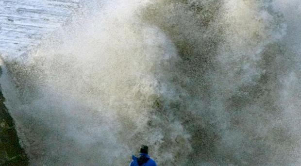 People living along the coasts in parts of the country are being warned of possible flooding from high tides and stormy weather