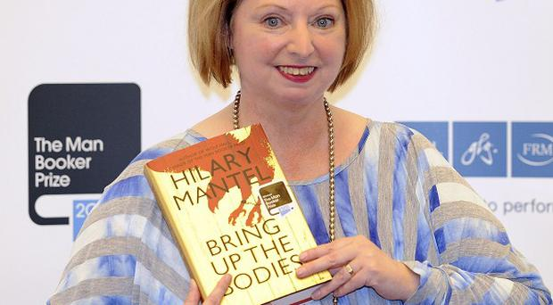 Hilary Mantel wins the Man Booker Prize for her novel Bring Up The Bodies at the Guildhall, London