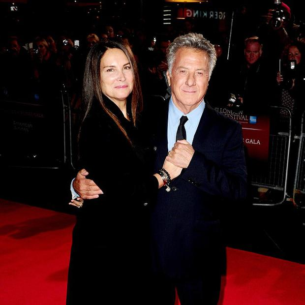 Dustin Hoffman and his wife Lisa arrive for the screening of new film Quartet