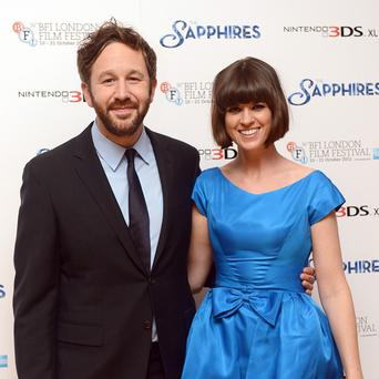 Chris O'Dowd and wife Dawn Porter arriving for the premiere of The Sapphires