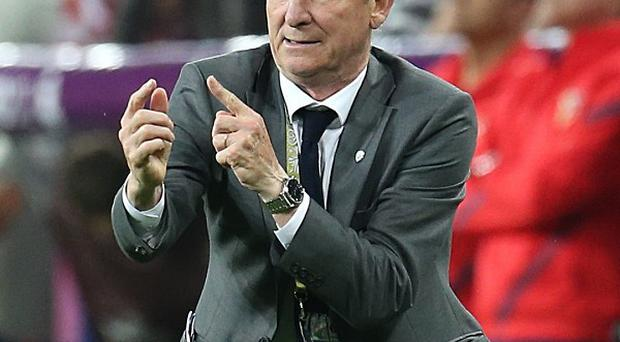 Lars Olsen insists Giovanni Trapattoni's, pictured, Republic of Ireland are favourites for Tuesday's clash