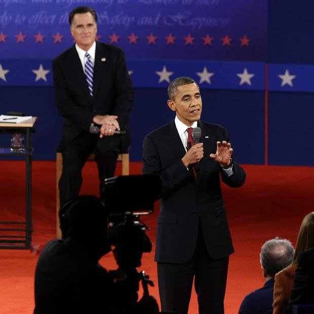 President Barack Obama and Republican presidential candidate Mitt Romney debated at Hofstra University (AP/Charles Dharapak)