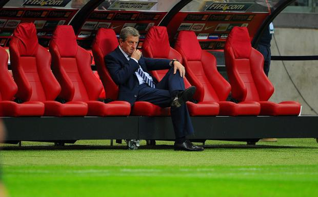 WARSAW, POLAND - OCTOBER 17: England manager Roy Hodgson looks on before the FIFA 2014 World Cup Qualifier between Poland and England at the National Stadium on October 17, 2012 in Warsaw, Poland. (Photo by Michael Regan/Getty Images)