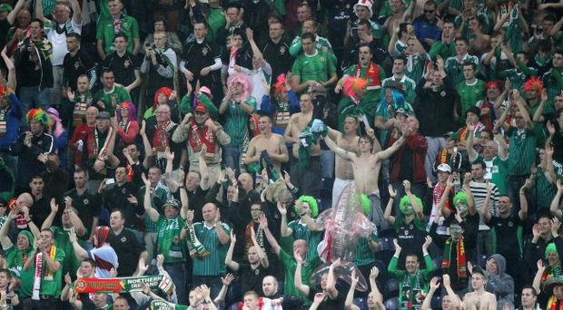 Northern Ireland's fans were happy to remind Ronaldo of the talents of his nemesis, Lionel Messi