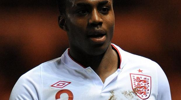 Danny Rose was shown a red card at the end of the England Under-21 match against Serbia